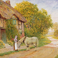 Outside The Village Inn by Arthur Claude Strachan