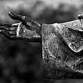 Outstreched Hand B-w by Christopher Holmes