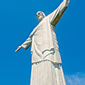 Outstretched Arms Of Christ The Redeemer Icon On Corcovado Mountain In Rio De Janeiro-brazil  by Ruth Hager