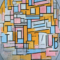Oval Composition by Mondrian