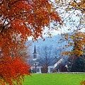 Oval United Methodist Church by Stephanie Calhoun