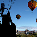 Over Auburn And Lewiston Hot Air Balloons by Bob Orsillo