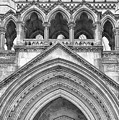 Over The Entrance To The Royal Courts  by Shirley Mitchell