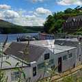 Over The Rooftops At Portree by Joan-Violet Stretch