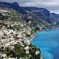 Overall View Of Part Of The Amalfi Coast In Italy by Richard Rosenshein