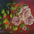 Overhanging Roses by Micheal Giddens