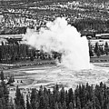 Overhead View Of Old Faithful Erupting. by Jamie Pham