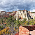 Overlook In Zion National Park Upper Plateau by John M Bailey
