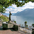 Overlook Of Lake Maggiori by Alan Toepfer