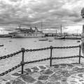 Overlooking Playa Blanca Harbour by Gerry Greer