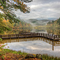 Overlooking The Beauty Of The Lake by Debra and Dave Vanderlaan