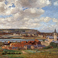 Overlooking The Town Of Dieppe by Spencer Frederick Gore