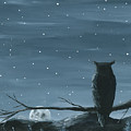 Owl And The Moon by Christine StPierre