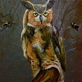 Owl On Slate by Gino Didio