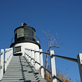 Owls Head Lighthouse Winter by Doug Mills