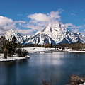 Oxbow Bend In Winter by TL Mair
