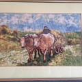 Oxcart After Nicolae Grigorescu by Maria Filip