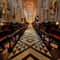 Oxford Cathedral Nave by Carol Berget