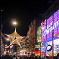 Oxford Street London At Christmas by Terri Waters