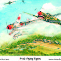 P-40 Flying Tigers by Dennis Vebert