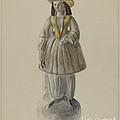 Pa. German Chalkware Bloomer Girl by Mina Lowry