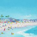 Pacific Beach In San Diego by Jan Matson