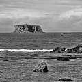 Pacific Ocean Coastal View Black And White by Dan Sproul