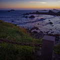 Pacific Ocean Cove Northern California Sunset by Scott McGuire