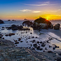 Pacific Ocean Northern California Sunset by Scott McGuire