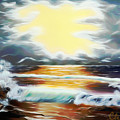 Pacific Ocean Storm Dreamy Mirage by Claude Beaulac