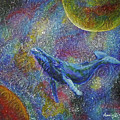 Pacific Whale In Space by Amelie Simmons