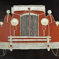 Packard 1937 Red by Christine Dekkers