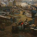 Packing Fish   St Ives by Gwendoline Margaret Hopton
