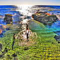 Paddle Boarding At La Jolla Beach by Randy Aveille