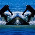 Paddleboarding X 2 by Betsy Knapp