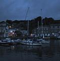 Padstow Harbor At Night by Kurt Van Wagner