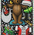 Page 1 Of 2 Teddy Bear Santa Claus Paper Doll by Lynn Bywaters