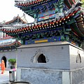 Pagoda Minarets And Courtyard Of Cow Street Islam Mosque Beijing China by Imran Ahmed