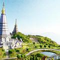Pagoda On Doi Inthanon, Chiang Mai, Thailand.  by Chatchai Somwat