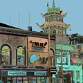 Pagoda Tower Chinatown Chicago by Marianne Dow