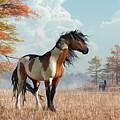 Paint Horses In Autumn by Daniel Eskridge