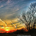 Painted Autumn Sunset by Marty Kugler