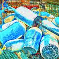 Painted Buoys by Joe Geraci