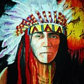 Painted Face Warrior by Lynda Clark