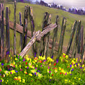 Painted Fence by Vicki Tomatis