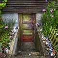 Painted Garden Door by Tammy Wetzel