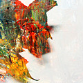 Painted Leaf Abstract 1 by Anita Burgermeister