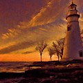 Painted Marblehead Lighthouse by Dan Sproul