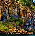Painted Rock - Flathead Lake by Russ Harris