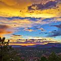 Painted Sky's Over Sedona by Lou  Novick